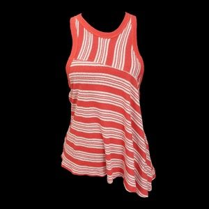 We The Free People Thursday Striped Tank Top Asym